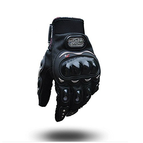 AV SUPPLY Motorcycling Gloves Ergonomic Anti Slip Full Finger Hard Shell Protective Gear for Motorcycle Motorbike Sport Racing Bicycle Riding Cycling Gloves Hand Protectors 10 1/2 Inch XL Black