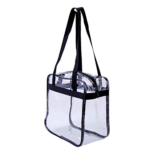 Budget Minded Clear Tote Bag -10 x 10 x 6 Stadium Approved Clear Bag for All NFL, NCAA Events and Concerts