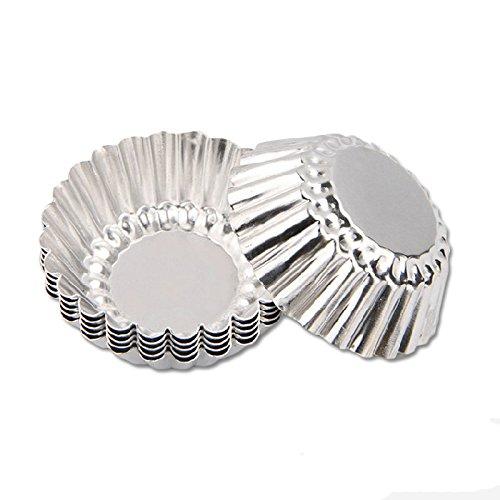 Ancdream 24x Molde para Tarta de Huevo Aluminio Plateado: Amazon.es: Hogar