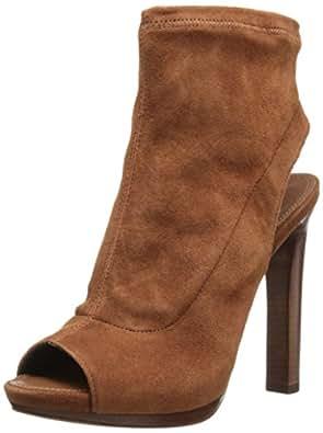 Diane von Furstenberg Women's Amara Platform Bootie,Sandalwood Stretch Suede,5 M US