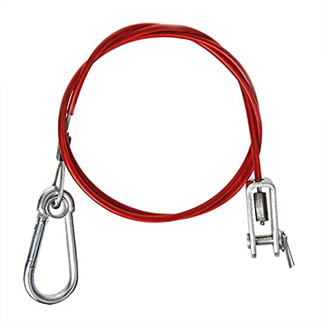 Pendant Brake break 1000 MM Red with Fork Head and Carabiner Red