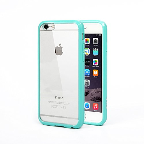 iPhone 6s Case, N.Life Apple iPhone 6/6s Case Premium Clear Hard Back Panel + Tpu Bumper Hybrid Cover, Anti-Scratch and Fit for iPhone 6/6s 4.7 Inch(Green)