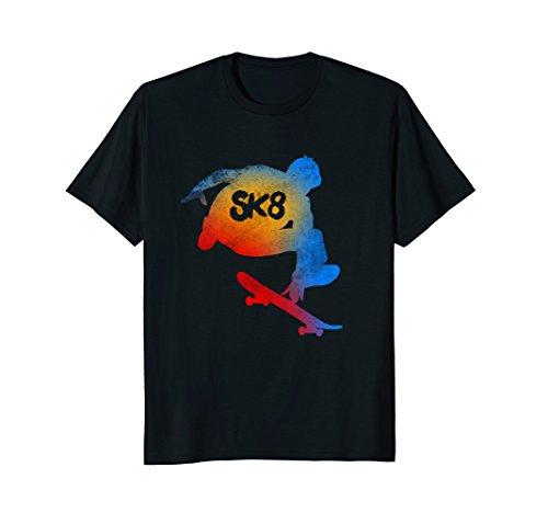 Mens Skateboarding Evolution T shirt Cool Sk8 Skater Tee Gifts Medium Black