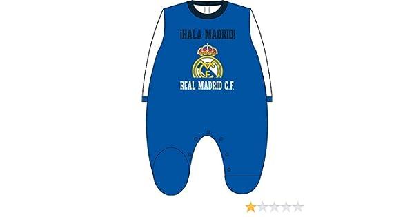 Pelele Terciopelo Real Madrid Bebé HALA Madrid Azul: Amazon.es: Ropa y accesorios