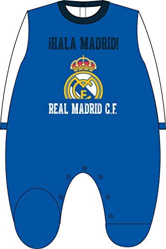 Pelele Terciopelo Real Madrid Bebé HALA Madrid Azul (1 Mes)