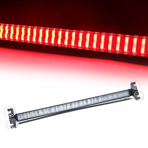 LED Strobe Light Red Law Enforcement Emergency Hazard Warning Flashing Car Truck Strobe Light with Cigar Lighter and Suction Cups