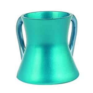 Anodize Aluminum Small Turquoise Wash Cup by Yair Emanuel