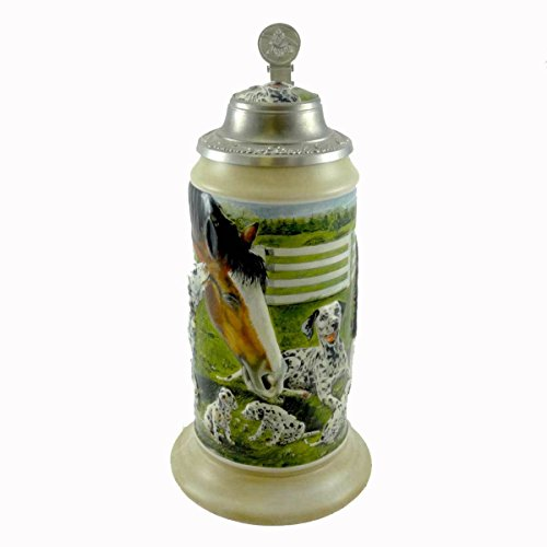 Anheuser-Busch Collectible Stein Making Friends Item CS606 Featuring Budweiser Clydesdale and Dalmatian ()