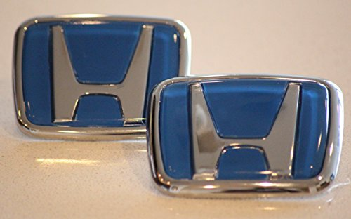 (Quality Blue Honda Type R Emblem Set JDM BLUE Front and Rear 1990 -0200 Accord Civic EK9 (Blue))
