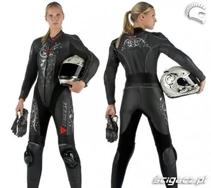 Sin Nombre/logotipos; traje de cuero de motorista para mujer en ...