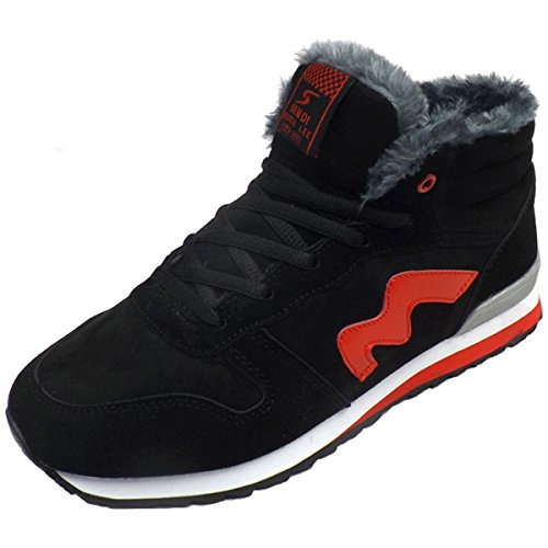 Men Boots Red Boot Lined Snow Eagsouni Warm for Sneaker Fur Ankle Shoes Hiking Winter Women wOSUAT