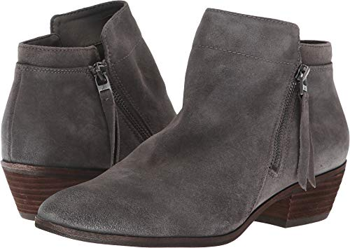 Sam Edelman Women's Packer Ankle Boot, Steel Grey Suede, 10