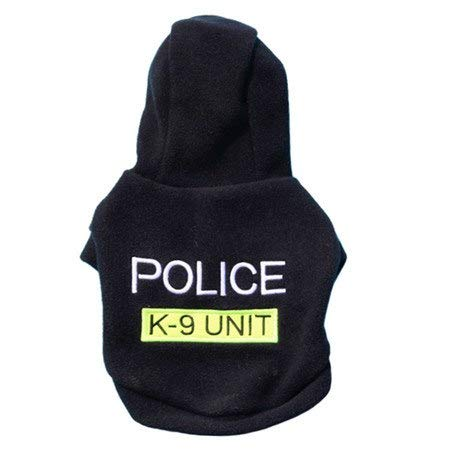 Cowmole Co. Letter Police Print pet Dog Hooded