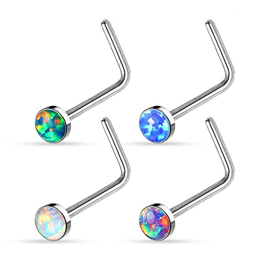 unustyle-4-pcs-stainless-steel-opal-set-l-bend-nose-stud-rings