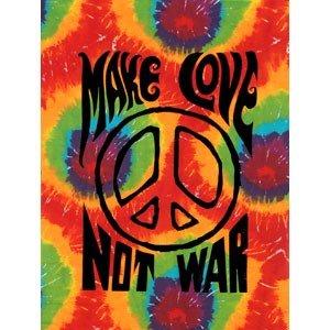 Amazon Com Make Love Not War Tye Dye Tie Dye Wall