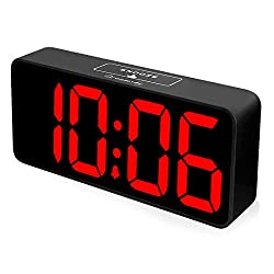 DreamSky 8.9 Inches Large Digital Alarm Clock with USB Charging Port, Fully Adjustable Dimmer, Battery Backup, 12/24Hr, Snooze, Adjustable Alarm Volume, Bedroom Desk Alarm Clocks
