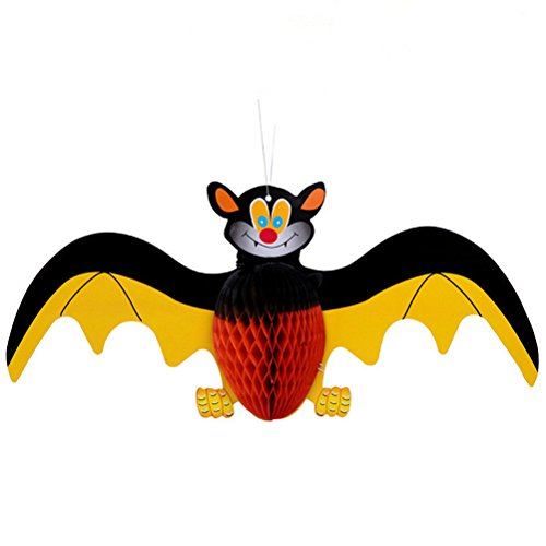 LUOEM 3D Paper Bat Ornaments Realistic Hanging Ornaments Halloween Hanging Decoration for Special Events(Picture 2)