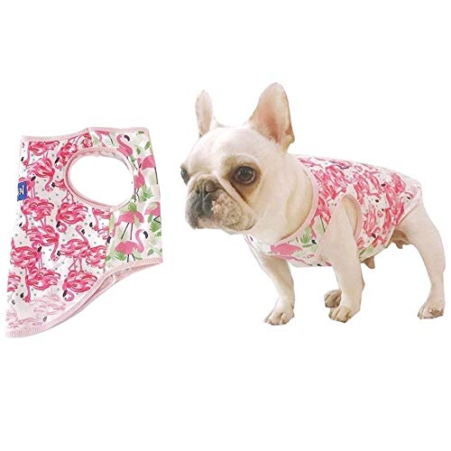 - Stock Show Pet Dog Summer Vest, Camouflage Pattern Cute Teddy French Bulldog Dog 100% Cotton Fashion T-Shirt Breathable Sleeveless Summer Dog Clothes for Small Medium Dogs Puppy, Pink