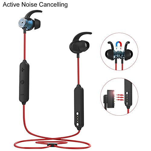 Active Noise Cancelling Bluetooth Headphones, Wireless Earbu