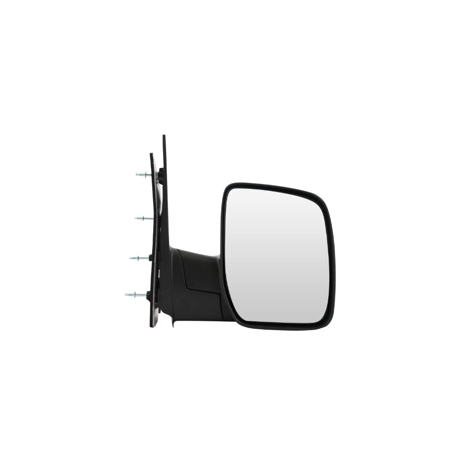 Pilot 08 09 Ford Econoline Van Sail Type w/ Single Glass Manual Mirror Right Black Textured FDE19410NR