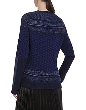 BCBGMAXAZRIA Reona Textured Jacquard Raglan Pullover