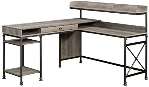 Sauder Canal Street L-Desk, Northern Oak finish