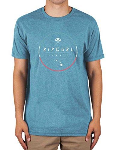 Rip Curl Men's All Time Circle Graphic Tee Shirt, Chain Stamp Aqua, Medium -