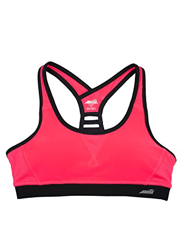 avia-womens-active-printed-matrix-sports-bra-xl-neon-coral-black-soot