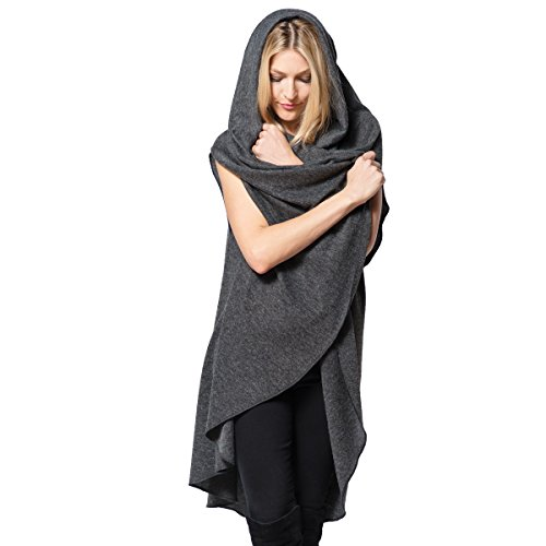 Demdaco Women's City Wrap Multi-Use Wrap Scarf Sweater, Oatmeal