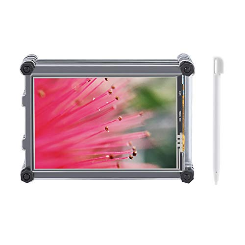 Touch Screen 3.5 Oled - Bewinner 3.5 Inch TFT LCD Resistive Touch Screen Display for Raspberry Pi All Versions, 320 x 480 Resolution,and with a Acrylic Case Specially Design for Raspberry Pi 3B+