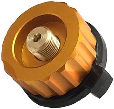1 adaptador para hornillo de camping, adaptador de conversión de gas, adaptador de cabeza para bidón de butano, tornillo, cartucho de gas, adaptador ...