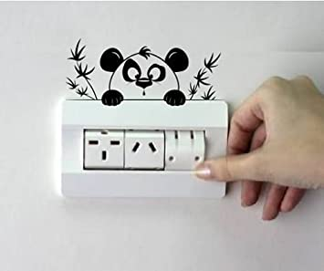 Charmant Deewarist Cute Panda Switchboard Design   Vinyl Decal