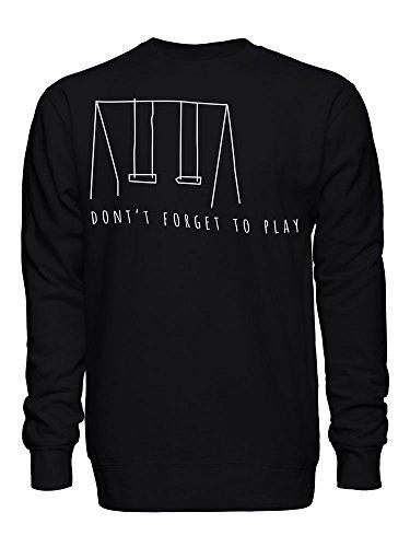 Don't Forget To Play Original Swings Art Unisex Crew Neck Sweatshirt