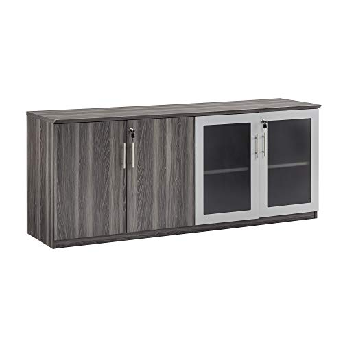 Conference Cabinet - Safco Products MVLCLGS Medina Cabinet, Gray Steel
