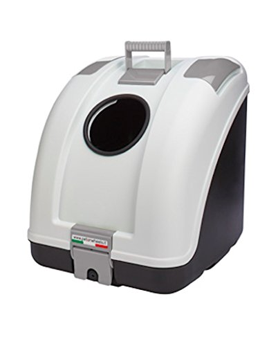 (Pet on Wheels Pet Carrier for Dog and Cat Easy Mounting on Scooter Motorcycle Bike and also suitable for Car I Main Colour White Black Base, Grey Inserts)