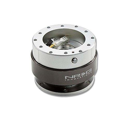 NRG SRK-200SL Steering Wheel Ball Lock Quick Release Adaptor Kit Gen 2.0 (Silver Body w/Titanium ()