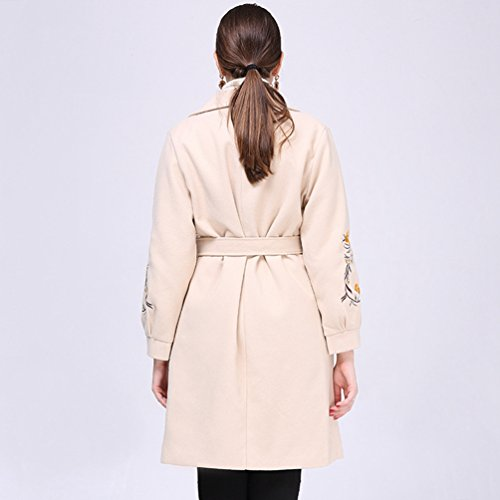 Tamaño Chaquetas Albaricoque e Gran de Invierno Calientes Abrigos para Abrigo WanYang para de Mujer Otoño Mujer Larga Chaqueta Yz4TqwxA