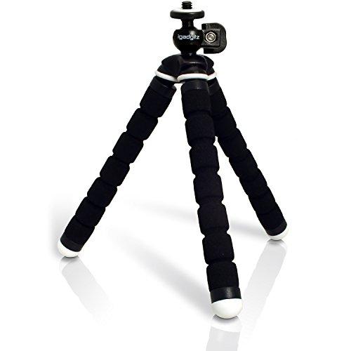 iGadgitz Lightweight Small Universal Flexible Foam Mini Tripod for Sony DSC-W800, DSC-W810, DSC-W830, DSC-WX220, DSC-WX350, DSC-WX500 – Black