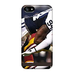 New Snap-on SuperMaryCases Skin Case Cover Compatible With Iphone 5/5s- Dallas Cowboys Vs Washington Redskins