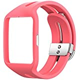 Changeable Replacement Bracelet Strap Band for Sony Smart Watch 3 SWR50 (Pink)