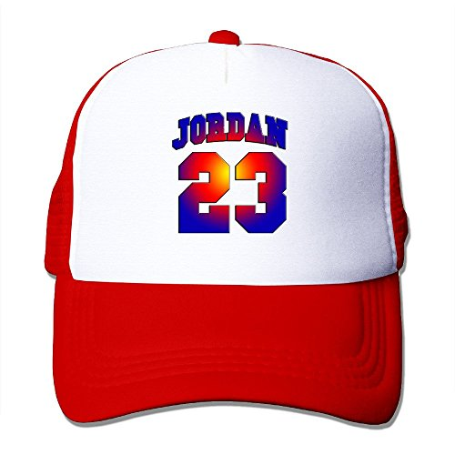 23 Chicago Adult Nylon Adjustable Mesh Hat Snapback Hip Hop Hat Red One Size Fits Most ()