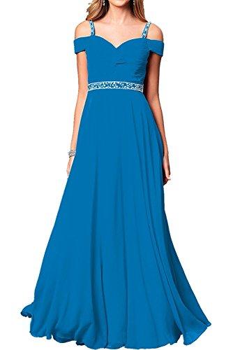 Damen Chiffon Langes Blau Brautmutterkleider Tanzenkleider Abendkleider La Kleider Marie Jugendweihe Braut q6w6EZ