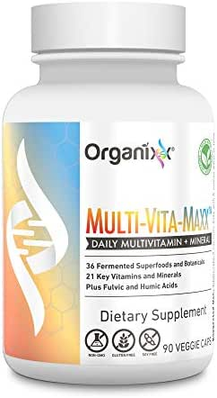 Organixx - Multi-Vita-Maxx - Whole Foods Multivitamin for Men and Women - B12, Calcium, Vitamin D, Vitamin C and More - Plus 36 Superfoods in 1 (90 Capsules)