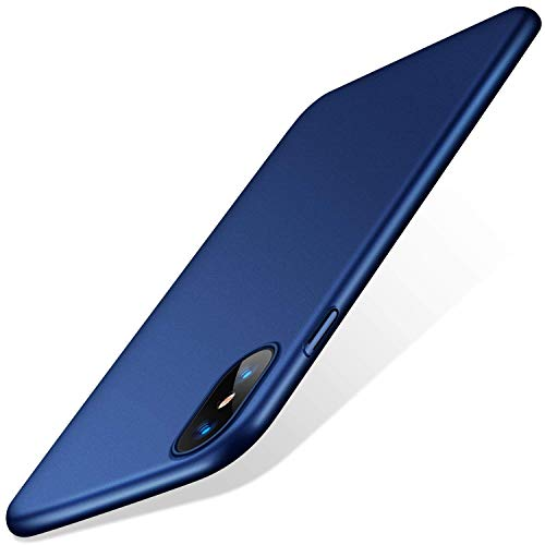 TORRAS Slim Fit iPhone Xs Case/iPhone X Case, Hard Plastic PC Ultra Thin Mobile Phone Cover Case with Matte Finish Coating Grip Compatible with iPhone X/iPhone Xs 5.8 inch, Navy Blue