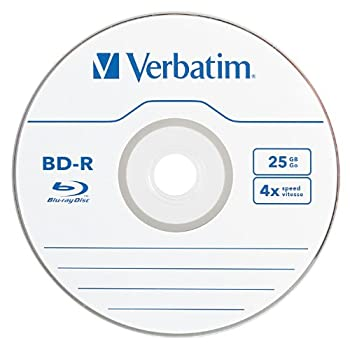 Verbatim 96434 25 Gb 4x Blu-ray Single-layer Recordable Disc Bd-r, 1-disc Jewel Case (Discontinued By Manufacturer) 1