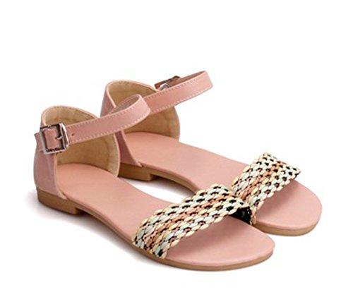 Aisun Womens Boho Comodi Sandali Colorati Da Spiaggia Color Rosa Confetto