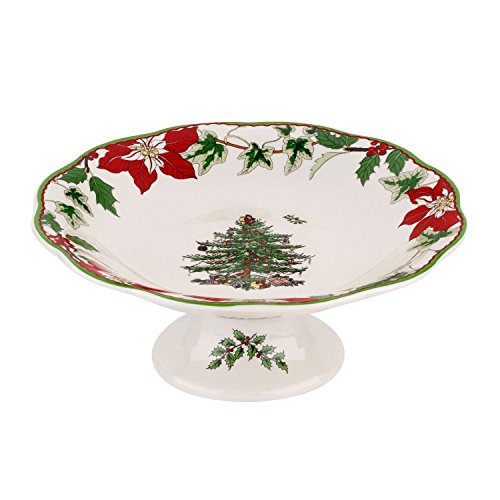 Spode Christmas Tree Annual Footed Candy Dish 7