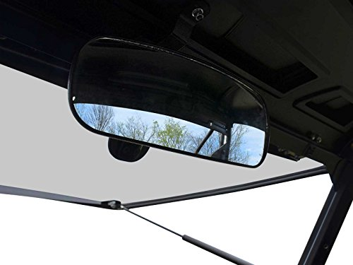 (SuperATV Adjustable Rear View Mirror for Polaris Ranger 570/900 / 1000 / Crew (See Fitment for Compatible Models and Years) - Easy to Install!)