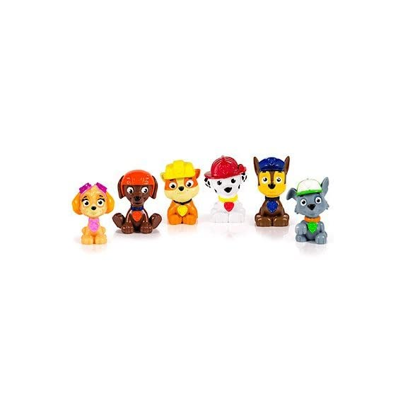 paw patrol Parent 1 Paw Patrol miniature figures, individually packaged, set of 6 miniature figures includes: Rubble, Chase, Skye, Zuma, Rocky and Marshall Take Paw Patrol mini Pups in your pockets everywhere you go! Paw Patrol miniature figures measure approximately 1 -3/4 inches in height.