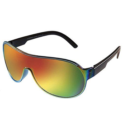 Gafas de sol pilotos discos mono reflejaban coloridas 400 ...